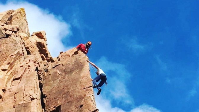 Learn English and Climb with Jersey Language Adventure